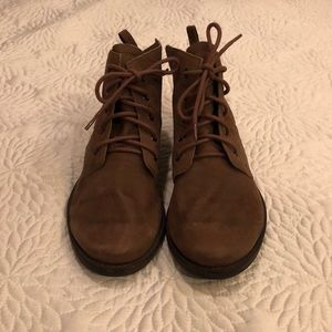 Sam Edelman Brown Leather Tie-up boots